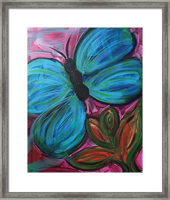 Healing Rain Butterfly Framed Print by Bethany Stanko