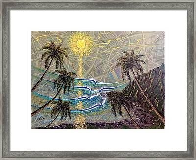 Healing Sunset Framed Print