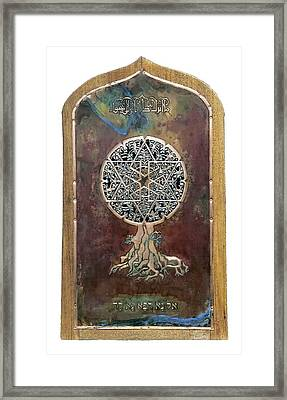 Healing The Tree Of Life Framed Print by Shahna Lax