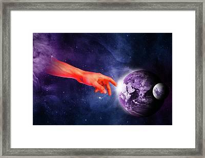 Healing Touch Framed Print