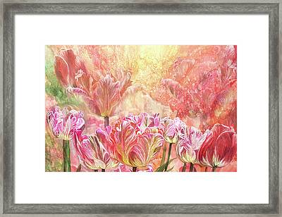 Healing Tulip Garden 2 Framed Print