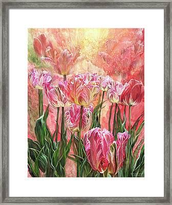 Healing Tulip Garden Framed Print