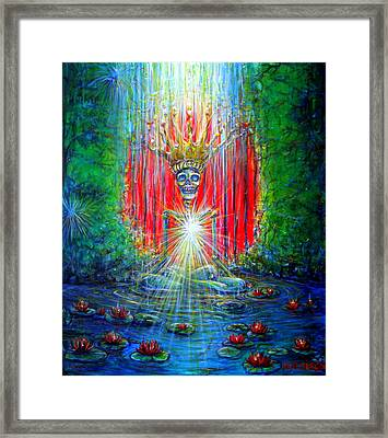 Framed Print featuring the painting Healing Waters by Heather Calderon