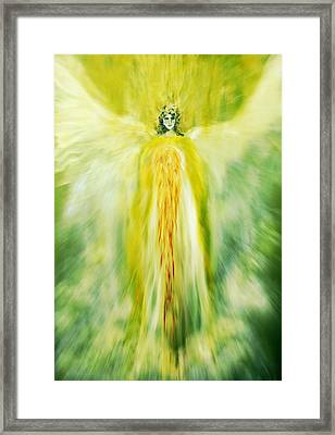 Healing With Golden Light Framed Print