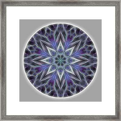 Health And Happiness Mandala Framed Print