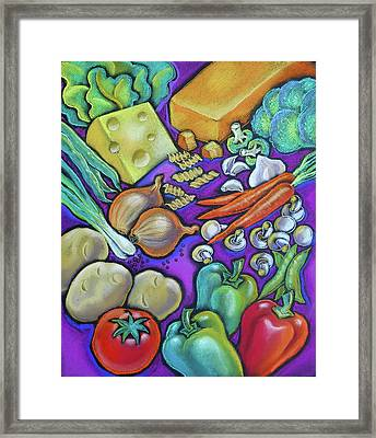 Health Food For You Framed Print by Leon Zernitsky