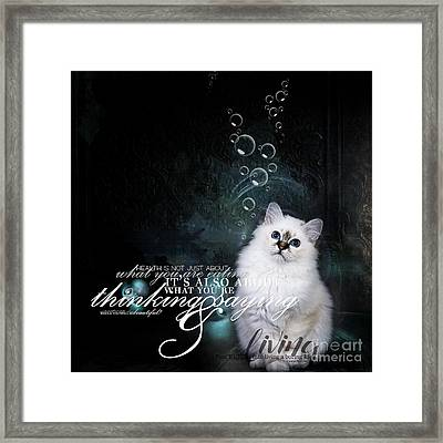 H.e.a.l.t.h Framed Print by Monique Hierck
