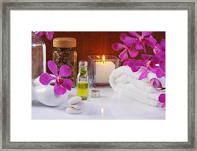 Health Spa Concepts  Framed Print by Atiketta Sangasaeng