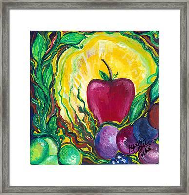 Health Framed Print by Susan Cooke Pena
