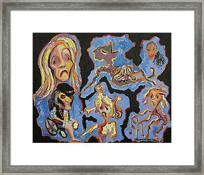 Healthcare Nightmare Framed Print by Suzanne  Marie Leclair