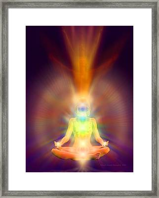 Framed Print featuring the painting Healthy Aura by Robby Donaghey