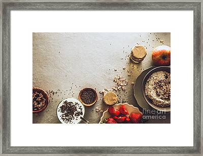 Healthy Breakfast Variety Framed Print by Mythja Photography