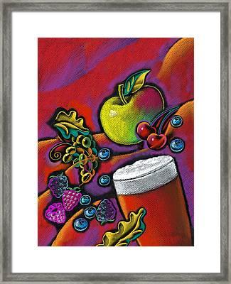 Healthy Drink Framed Print by Leon Zernitsky