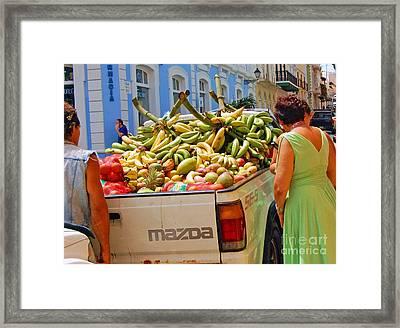 Healthy Fast Food Framed Print by Debbi Granruth