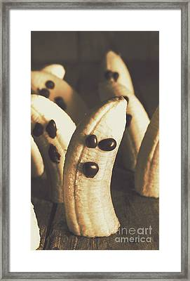 Healthy Rustic Trick-or-treat Halloween Snacks Framed Print