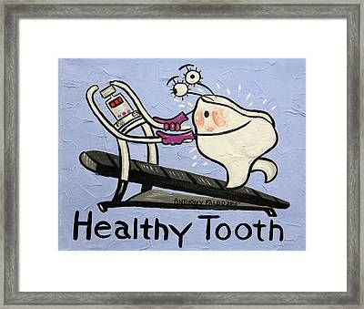 Healthy Tooth Framed Print by Anthony Falbo