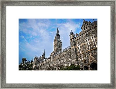 Healy Hall - Georgetown University Framed Print