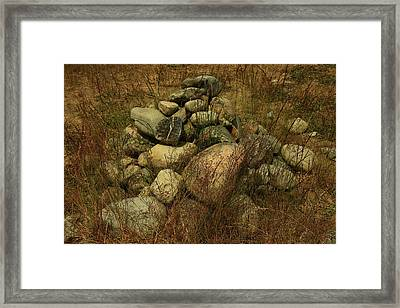 Heap Of Rocks Framed Print