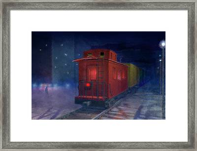 Hear That Lonesome Whistle Framed Print by Carol and Mike Werner