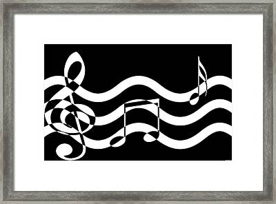 Hear The Music Framed Print by Evelyn Patrick