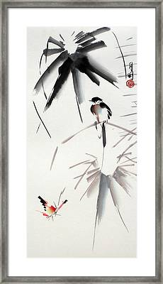 Hearing Rain  Framed Print by Ming Yeung