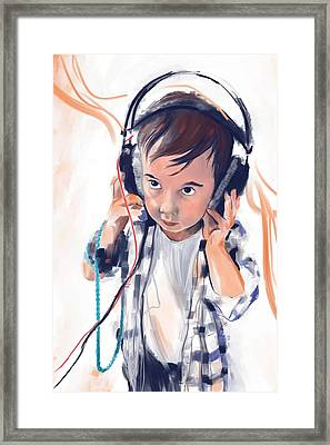 Hearing The Music Framed Print by Phil Vance
