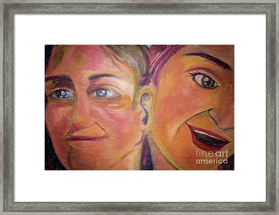 Hearing The Same Stories Framed Print by Janice Rae Pariza
