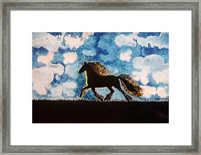 Framed Print featuring the painting Hearing Thunder by Connie Valasco
