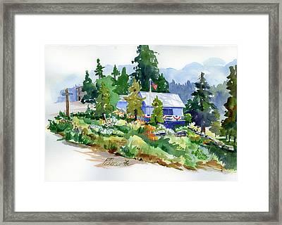 Hearse House Garden Framed Print