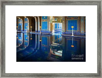 Hearst Pool Framed Print by Inge Johnsson