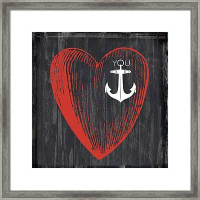 Heart Anchor Framed Print by Brandi Fitzgerald