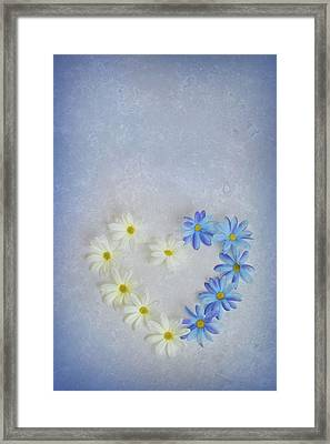 Heart And Flowers Framed Print