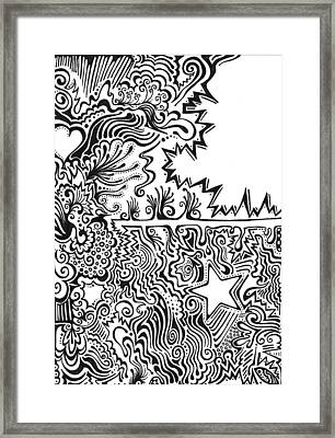 Heart And Star Abstract Framed Print by Mandy Shupp