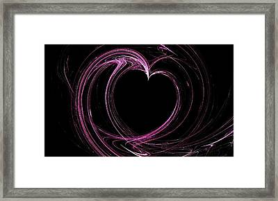Heart Framed Print by Angie Tirado