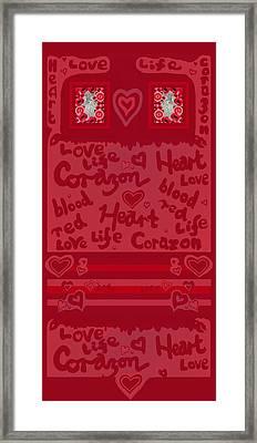 Framed Print featuring the mixed media Heart Art by Julia Woodman