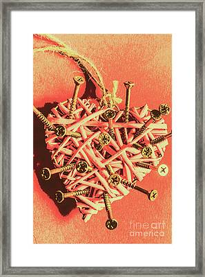 Heart Attack Framed Print