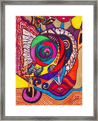 Heart Awakening - Iv Framed Print
