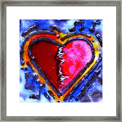 Heart Beat Rhythm Framed Print by Genevieve Esson