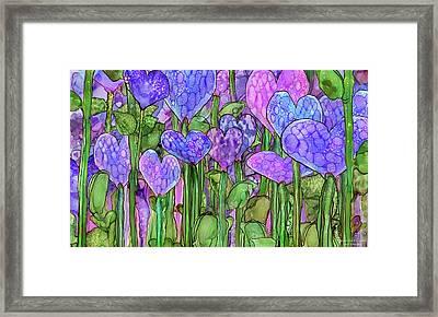 Heart Bloomies 3 - Purple Framed Print by Carol Cavalaris