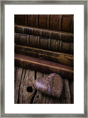 Heart Book Framed Print by Garry Gay