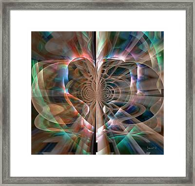 Heart Born To Love Framed Print by Fania Simon