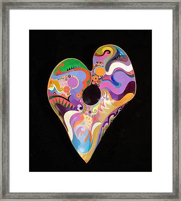 Heart Bowl Framed Print by Bob Coonts