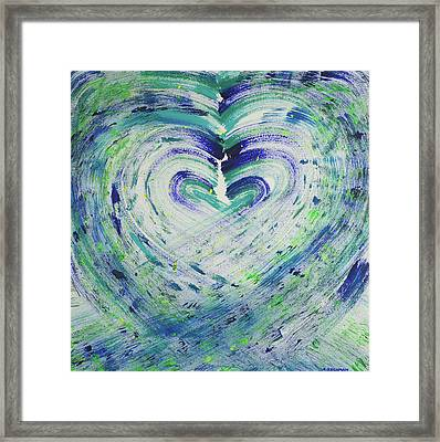 Heart Centered Peace And Love Framed Print
