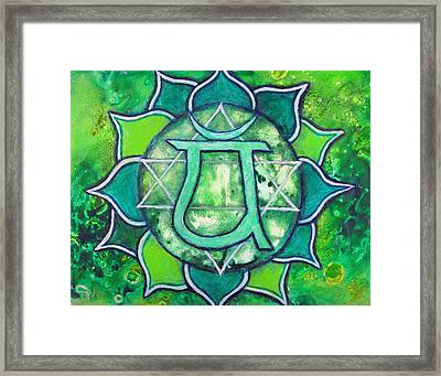 Heart Chakra - Anahata Framed Print