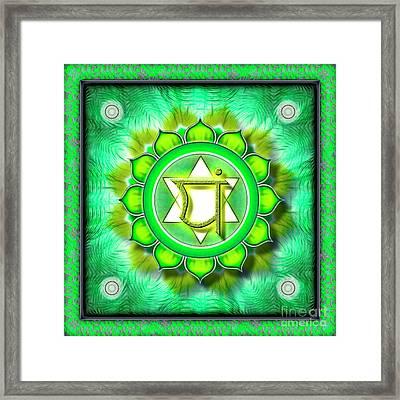 Heart Chakra - Series 1 Framed Print