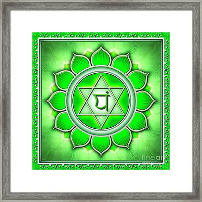Heart Chakra - Series 2 Framed Print by Dirk Czarnota