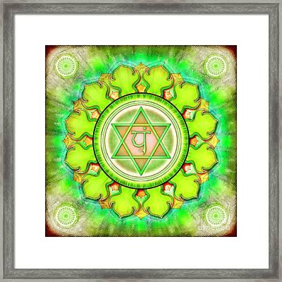 Heart Chakra - Series 3 Framed Print by Dirk Czarnota