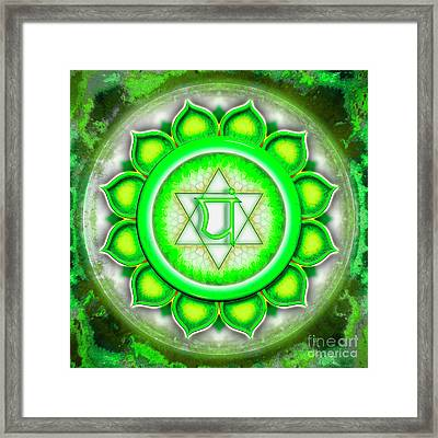Heart Chakra - Series 5 Framed Print by Dirk Czarnota