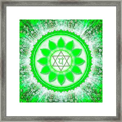 Heart Chakra - Series 6 Framed Print by Dirk Czarnota