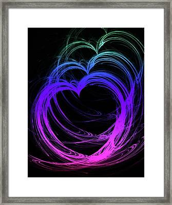 Heart Colors Framed Print by Angie Tirado